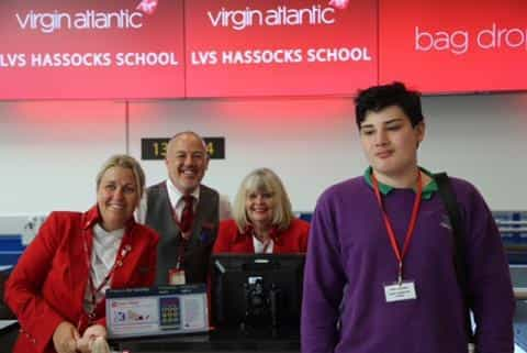 Students Learn Valuable Travel Tips At Gatwick Airport